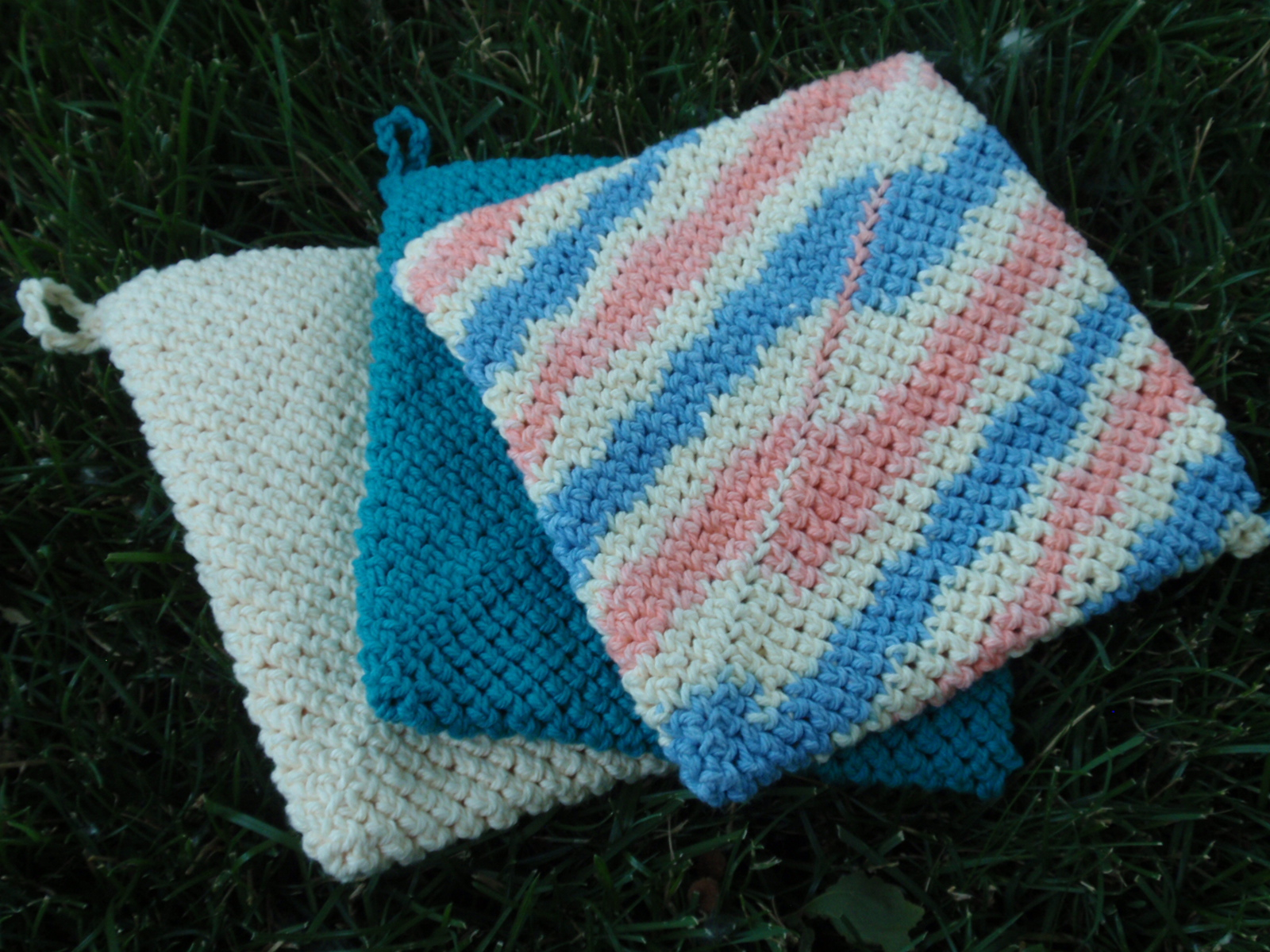 Easy Crochet Pattern For A Potholder Free Crochet Potholder Patterns ...
