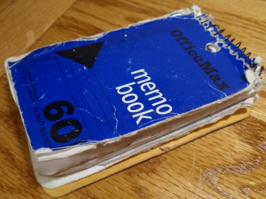 Image result for beat up notebook