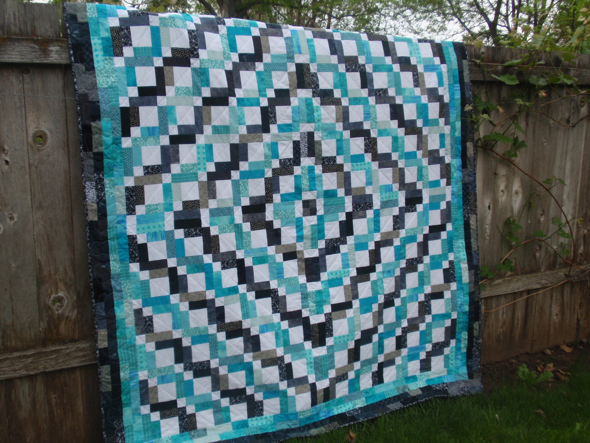 wedding dress quilt completed