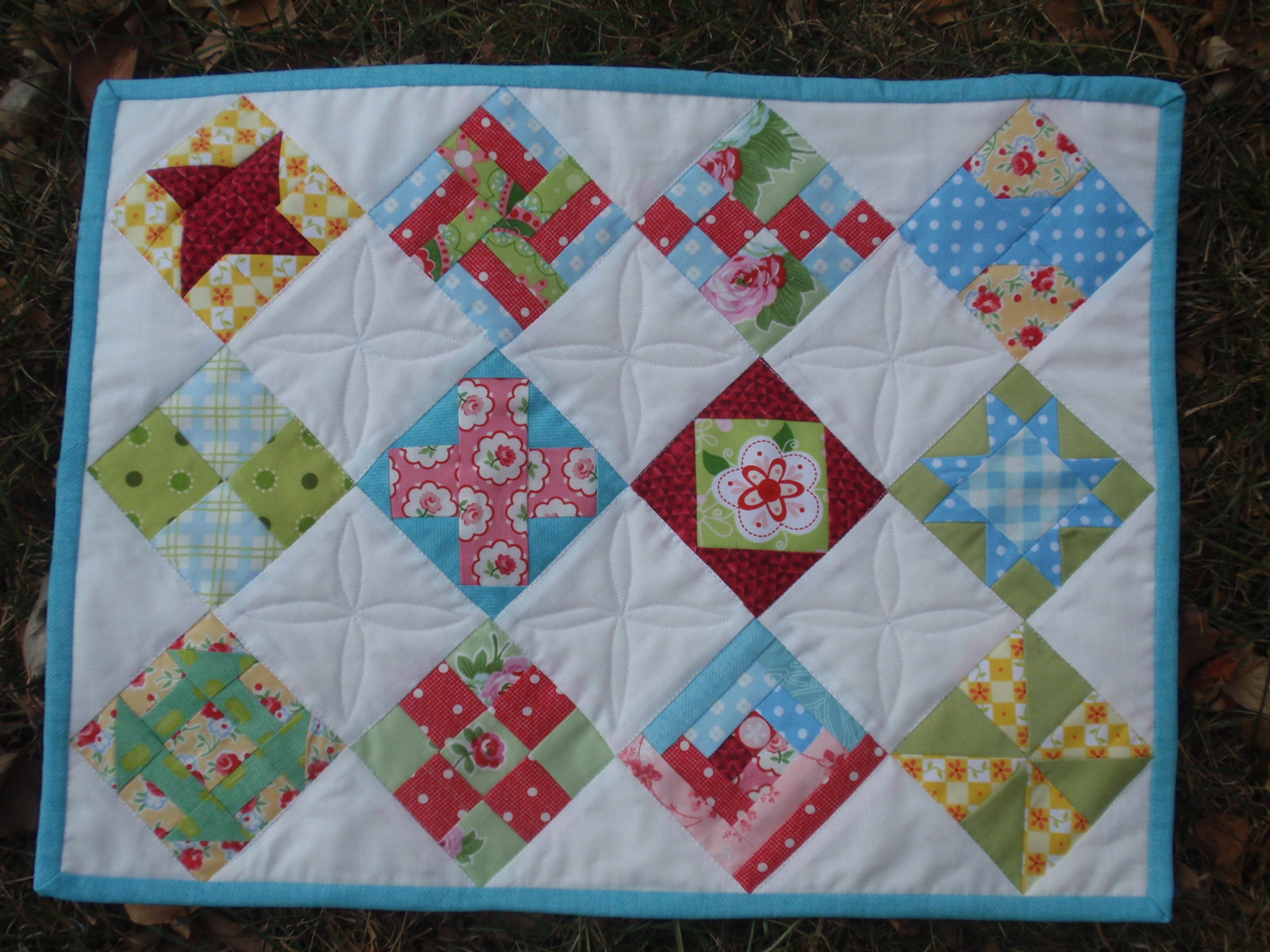 Wedding dress blue quilt along