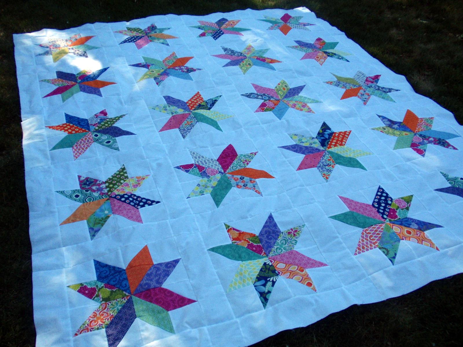 easy hst scrappy stars Quilt Blocks and Patterns Pinterest