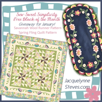 Sew Sweet Simplicity Free BOM-January Giveaway