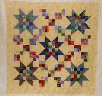star chain baby quilt